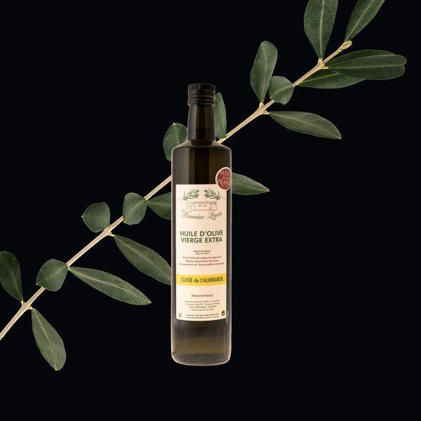 Huile d'olive Béziers du domaine Lupia à Sérignan cuvée de l'alimbarde