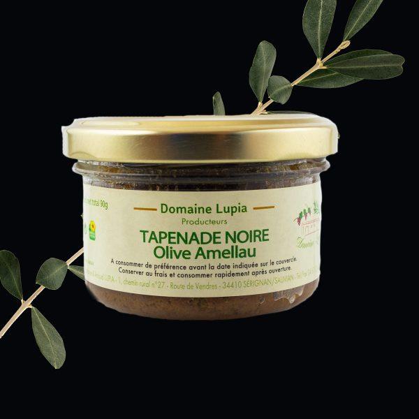 Tapenade noire olive Amellau Béziers du domaine Lupia